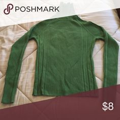Green turtle neck Green turtle neck in like new condition. Hardly ever worn. Daisy Fuentes Tops Sweatshirts & Hoodies