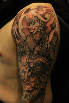 Warrior half sleeve by BKS  Chronic Ink Tattoo Shop Toronto   Dne with Mithra Tattoo Needles
