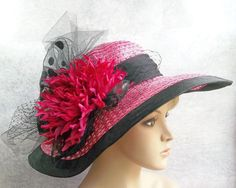 victorian tea party hats | ... Pink Hat, Kentucky Derby Hat, Garden Party Hat or Victorian Tea Party