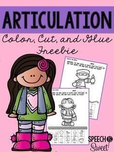 Articulation Freebie! No prep cut and paste activities for speech therapy!