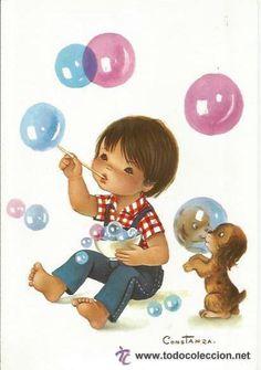 dibujos de niños haciendo burbujas - Buscar con Google