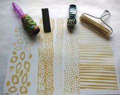 homemade stamp ideas - perfect for creative gift wrap