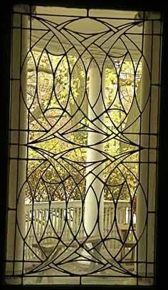 prairieschoolarchitecture: Frank Lloyd Wright, George Blossom House, Chicago, Illinois, 1892 Photo by Rolf Achilles - My Interior Design Ideas Stained Glass Panels, Stained Glass Patterns, Leaded Glass, Stained Glass Art, Mosaic Glass, Beveled Glass, Art Nouveau, Art Deco, Organic Architecture