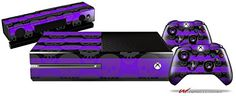 Skull Stripes Purple  Holiday Bundle Decal Style Skin fits XBOX One Console Kinect and 2 Controllers XBOX SYSTEM SOLD SEPARATELY >>> Visit the image link more details. Note:It is affiliate link to Amazon.