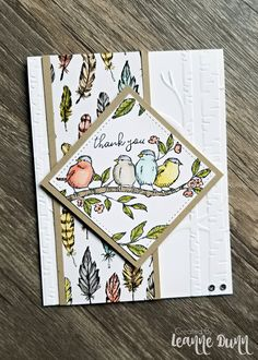 Free As A Bird Stampin' Up! Card I've been in a creative slump for a few weeks and too busy to try to get out of it. So, I cleared a couple hours yesterday to sit down and create! Tarjetas Stampin Up, Stampin Up Catalog, Stamping Up Cards, Bird Cards, Animal Cards, Paper Cards, Flower Cards, Creative Cards, Cute Cards