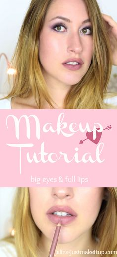 Makeup tutorial with pink eyes and full lips. I love this makeup look with sleek products.