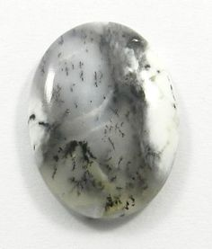 17.40CTS NATURAL DENDRITIC OPAL 17X24MM OVAL CABOCHON LOOSE JEWELRY GEMSTONE
