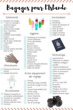 Packing list : quoi mettre dans les bagages pour l'Islande?