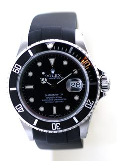Rolex 16610 Submariner Watch Mens,With Black Dial + Original Rolex Box & Papers #Rolex #Dress