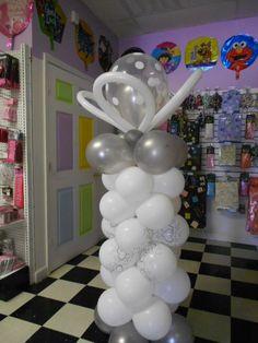 balloon column.  #balloon-column #balloon-decor #balloon-wedding-decor