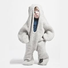 Icelandic design collective Vík Prjónsdóttir collaborates with countryside knitting factory Víkurprjón to make its snuggly textiles. It bases the playful patterns of its cover-alls—like this glorious animal-shaped Baby Seal blanket for your little one—on native customs, folklore, and the country's characteristic climate.