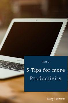 Da wir einige Einsendungen zu Produktivitätstipps erhalten haben, führe ich diese gemixt mit meinen Anregungen auf. Natürlich arbeitet jeder anders... 5 Tipps für einen produktiven Arbeitstag – Part II