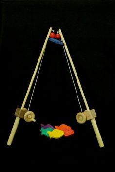 My Unique Wooden Toys 1 pole KIDS WOODEN FISHING POLE hand-eye coordination Fun and imaginative! Great for developing motor skills and wonderful for both girls and boys. Crappie Fishing, Carp Fishing, Ice Fishing, Fishing Tackle, Wooden Truck, All Fish, Natural Toys, Waldorf Toys, Wood Toys