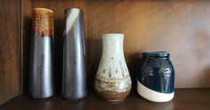 Vases from near and far. www.swanhouse.net.au NSW South Coast - Retro Holiday Rental