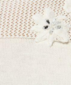 花朵刺繡針織皇庭(皇后區法院)(針織/毛衣)|詳細的圖像
