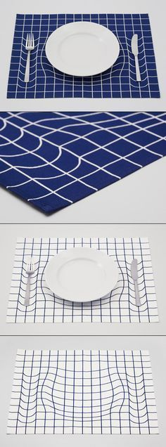 Déformation d'une grille par un objet