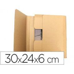 Caja ideal para protección en el envío de libros, catálogos, revistas, dossiers... Gran resistencia y muy fácil el montaje. Medidas: 300 x 240 x 60 mm.