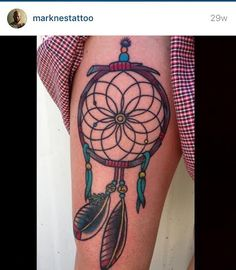 Beautiful #dreamcatcher #tattoo from Mark Nes at Body Mark's Tattoo in San Diego, CA. (619) 280-3610. #sandiego #sandiegotattooartist #tattoos #absolutetatremoval #beautiful