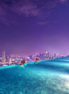Pool on 57th floor of the Marina Bay Sands Hotel, Singapore
