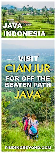 For rice fields, tea plantations, rural villages and national parks, visit Cianjur in West Java Indonesia for a non-touristy off the beaten path experience. Visit Java | Visit Indonesia | Top Places To Visit In Java | What to do in Java | Top tips for Java | Off the beaten path in Java | Explore Java | Village Visits in Java | Homestay in Java | Rural stay in Java | Wonderful Indonesia | Travel Bloggers |