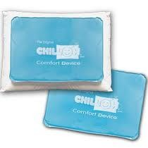 Chillow Comfort Device -   Chill out with a Chillow — a cool pillow for hot flashes, the Chillow turns cold at the touch of your body. No refrigeration is needed, though it helps. Fits a standard pillow case. Way cool product.