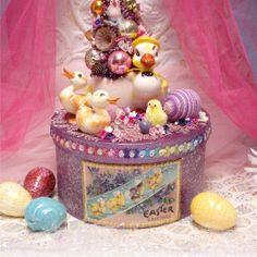 16 Vintage Easter Duck Decoration Purple Pink by GumDropSugarShop, $75.00 SOLD
