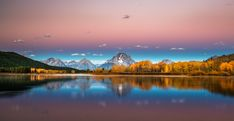 Pink reflection - Early morning At Grand Teton