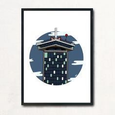 Exclusive Amsterdam City Prints A'DAM Toren available in different sizes & with or without a frame Amsterdam Art, City Art, Studio, Tower, Art Prints, Frame, Artwork, Art Impressions, Picture Frame