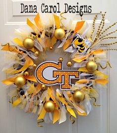 Georgia Tech Yellow Jackets Team Spirit Wreath