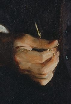"""detail from """"Henry Cabot Lodge"""" (1890) by John Singer Sargent @ National Portrait Gallery"""