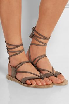 VALIA GABRIEL Pantem nubuck leather sandals $225.00 http://www.net-a-porter.com/products/552835