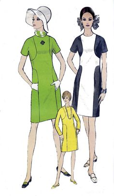 60s Vintage Sewing Pattern Vogue 7305 by allthepreciousthings,
