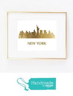 New York Gold Foil Wall Art Print Skyline City NY World Map distance Urban Skyscraper like Fashion Color and White Gold poster 0216 from Artlantida https://www.amazon.com/dp/B01DDCVZZA/ref=hnd_sw_r_pi_dp_nqXPybQ6QB4HV #handmadeatamazon