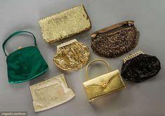 SEVEN EVENING BAGS, 1950-1980