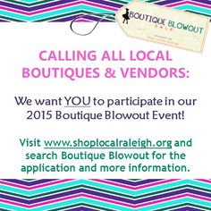 Who's getting excited?? Be sure to like our BB Facebook page to keep up with the latest news! www.shoplocalraleigh.org