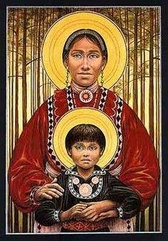 Choctaw Madonna and Child by Fr. John Giuliani the Choctaws, Cherokees, Chickasaws, Creeks and Seminoles — marched on the Trail of Tears in the harsh winter of Blessed Mother Mary, Divine Mother, Blessed Virgin Mary, Religious Images, Religious Icons, Religious Art, Cherokees, Choctaw Nation, Images Of Mary