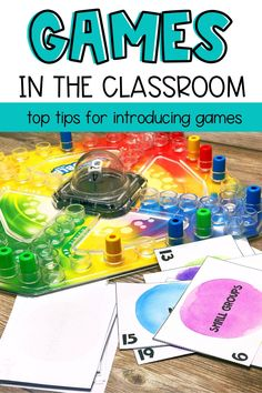 Playing games in the classroom doesn't have to result in chaos. Try some of these tips to help set expectations as you get started with games in your classroom. Educational games are a great way to review concepts. They are also great enrichment activities. You can play math games, literacy games, or vocabulary games and more. The most important thing is to set up some procedures and routines with in your classroom when it comes to playing games. You can play digital games or use game… Play Math Games, Free Math Games, Math Card Games, Literacy Games, Enrichment Activities, Vocabulary Games, Classroom Incentives, Classroom Management Strategies, Classroom Games
