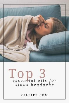 Are you suffering from a sinus headache? If you're looking for a natural remedy we have five essential oils for sinus headaches that will help ease your discomfort. #migrainestore