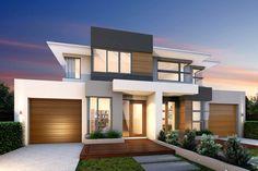 Luxury & Dual Occupancy Home Builders & Designers in Melbourne 3 Storey House Design, Duplex Design, Townhouse Designs, Two Storey House, Two Story House Plans, Modern House Plans, Townhouse Exterior, Duplex House, Modern Mansion