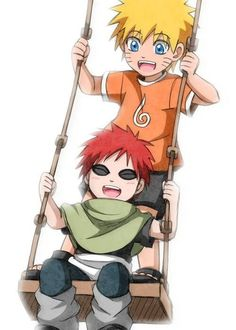 Naruto and Gaara. OMG THIS IS JUST THE CUTEST THING EVVVVER!!!