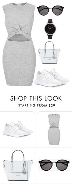 """Shopping day"" by poststyle ❤ liked on Polyvore featuring adidas Originals, River Island, GUESS, Yves Saint Laurent and Olivia Burton"