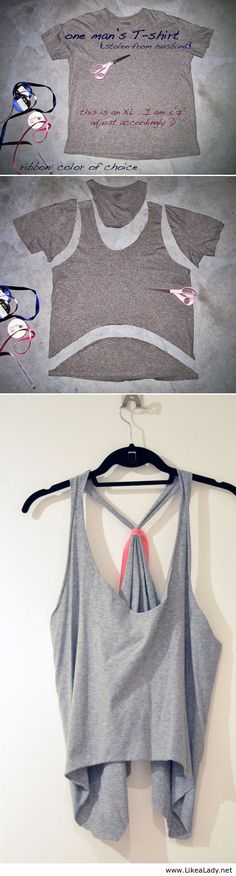 T-Shirt DIYs that are perfect for summer - Tie-back tank top