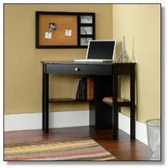 Accentuate your home office or workplace with this Design Gerardo Corner Writing Desk. It is a great addition to your home, be it the living room, bedroom, or study room. Mesa Home Office, Home Office Desks, Home Office Furniture, Office Spaces, Office Workspace, Pallet Furniture, Furniture Sets, Cherry Furniture, Furniture Shopping