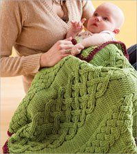 CROCHET KIT - Solas Caomh Crochet Blanket for a Baby Girl Kit. Crochet the Solas Caomh cabled crochet blanket for a sweet baby girl. This kit includes the pattern and enough pink yarn for one crocheted blanket. Crochet Afghans, Crochet Cable, Manta Crochet, Knit Or Crochet, Crochet Blanket Patterns, Learn To Crochet, Crochet Crafts, Crochet Stitches, Crochet Hooks