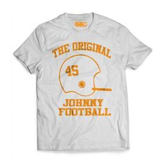 The original Johnny Football T-shirt now available for purchase online at www.gboapparel.com   #GBO #VFL #UTK #Butchjones #Tennessee #Tennesseegear