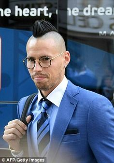 Marek Hamsik has become synonymous with the mohawk look during his time at Italian club Na...