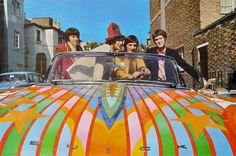 """electripipedream: """" The Kinks Sunny Afternoon Painted by BEV (Douglas Binder, Dudley Edwards & David Vaughan) 1967 """" The Kinks Sunny Afternoon, Dave Davies, Summer Playlist, Twist And Shout, British Rock, Old Music, Film Music Books, My Favorite Music, Music Is Life"""