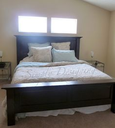 Bed Re-Do!  Click picture to see before and after shots of one of our favorite furniture refinishing projects!  from Simply Designing