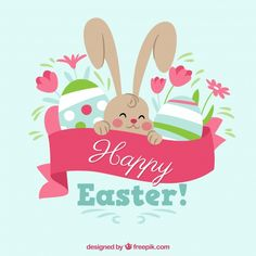 More than a million free vectors, PSD, photos and free icons. Exclusive freebies and all graphic resources that you need for your projects Illustration Animals, Happy Easter Day, Backgrounds Free, Hand Drawn, Vectors, Vector Free, Decoupage, How To Draw Hands, Greeting Cards