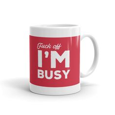 "This mug ""politely"" lets others know when you are too busy to chat. - http://ift.tt/2ee7T4A"